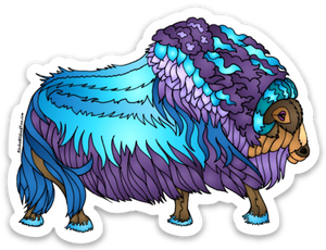 Muskox - Jeweled Muskox Sticker