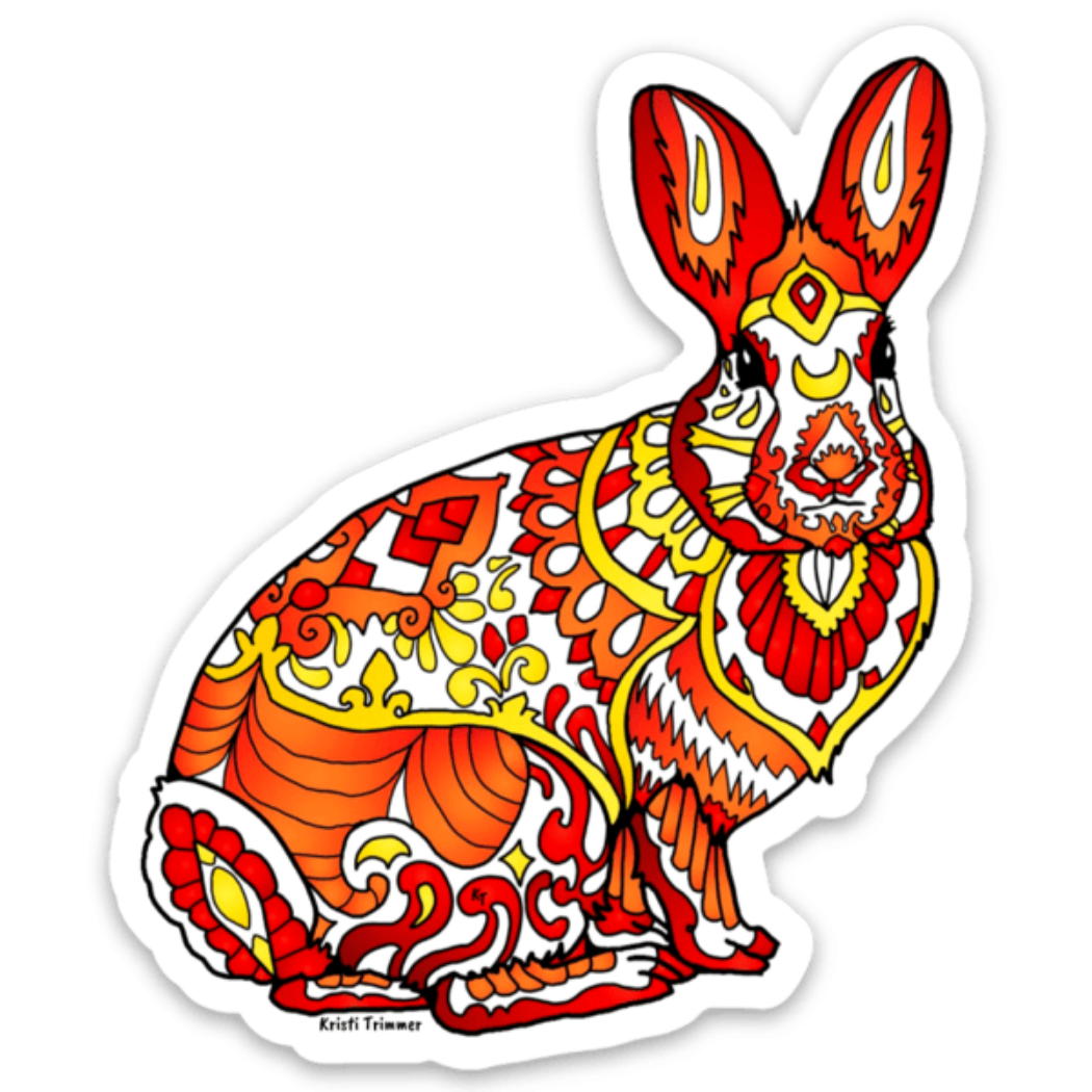 Rabbit - Cottontail Rabbit Sticker