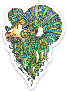 Sheep - Dall Sheep Queen - Green & Gold