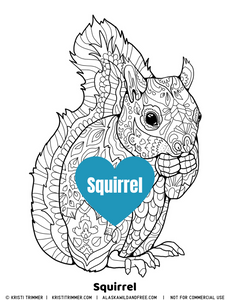 Color: Squirrel Coloring Page