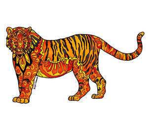 Tiger - Orange Sticker