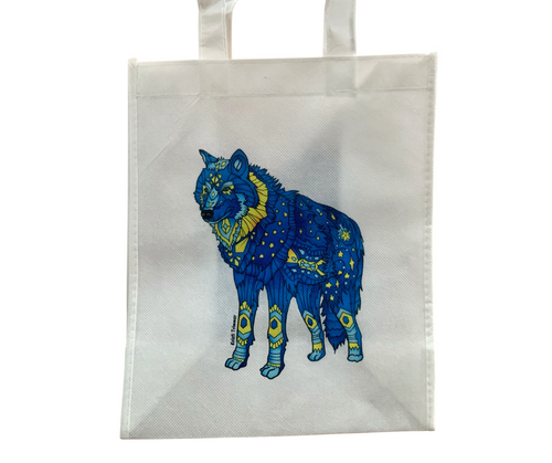 Tote Bag - Blue Wolf