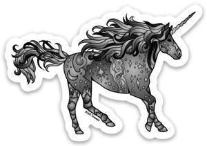 Unicorn - Black Sticker