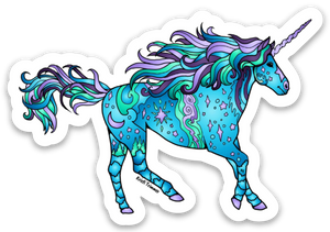 Unicorn - Blue Sticker