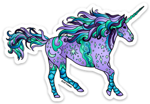 Unicorn - Purple Sticker