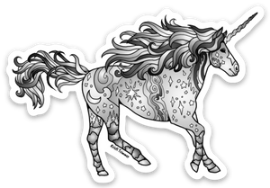 Unicorn - Silver Sticker
