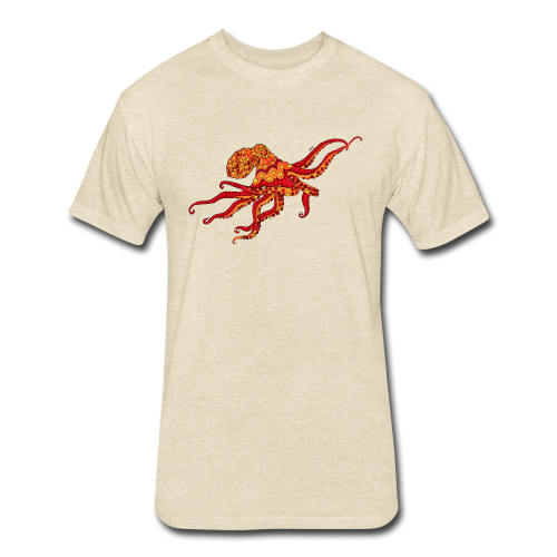 Shirts - Red & Orange Octopus - Cream