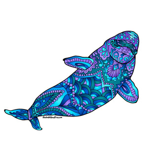 Whale - Blue & Purple Beluga Whale