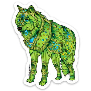 Wolf - Green & Yellow Wolf