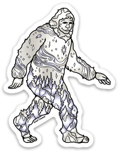 Yeti - White Sticker