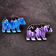 Load image into Gallery viewer, Bear - Limited Edition Majestic Purple Mountain Bear Pin