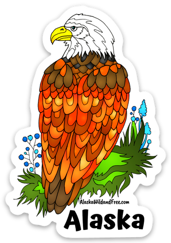 Bird - Bald Eagle - Alaska Sticker