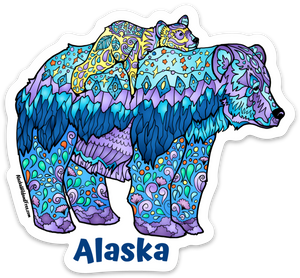 Bear - Mama Bear - Alaska Sticker
