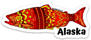 Fish - Red King Salmon - Alaska Sticker