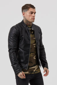 MEN'S BIKER JACKET - BLACK
