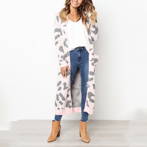 Long Sleeve Knit Sweater Coat
