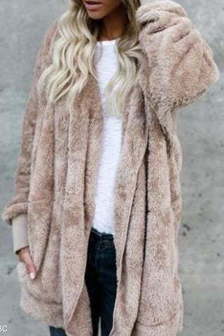 Long Coat On Both Sides Of A Fur Coat