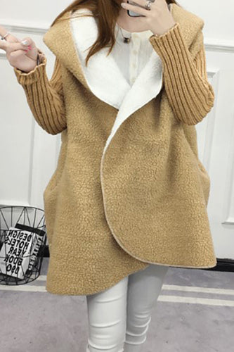 Winter Cashmere Loose Fit Hooded Coat
