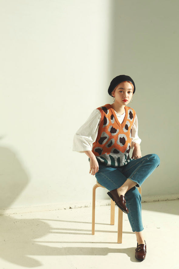 Over knit vest PR010003R1