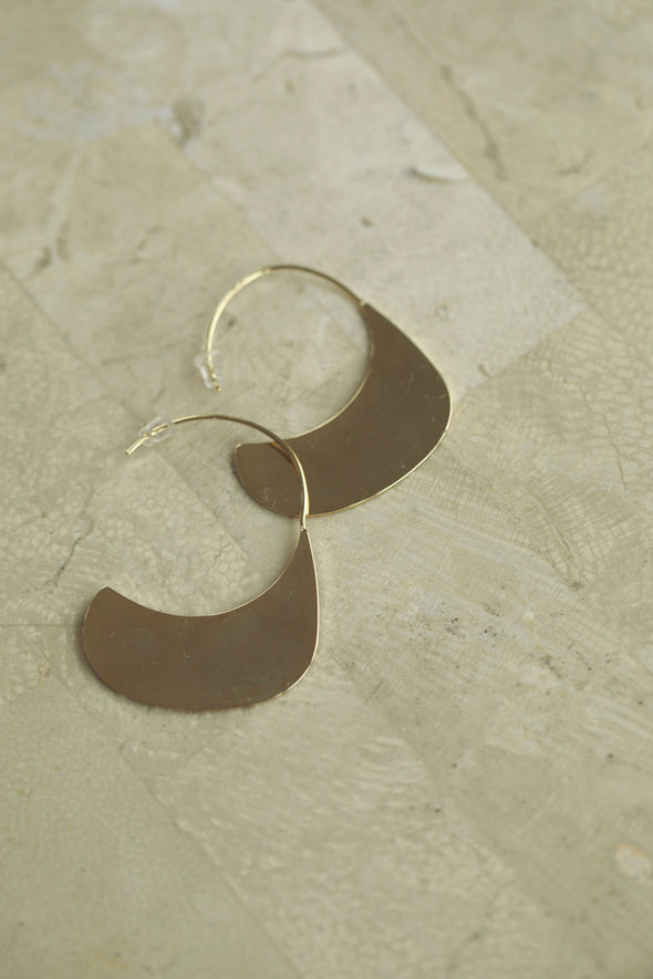 plate pierced earrings PR010021
