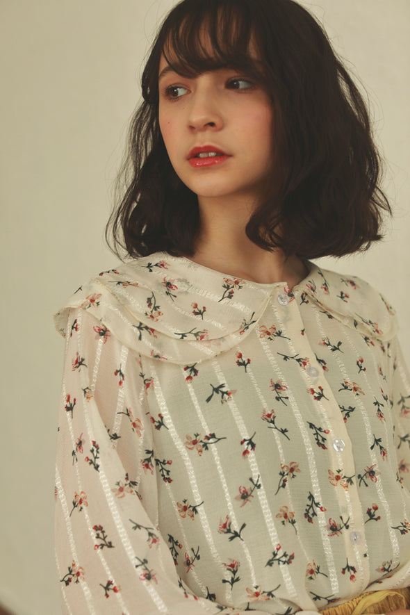 flower strip shirt PR020008