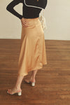 high waist satin skirt PR010029