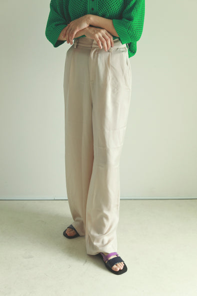satin straight pants PR090021