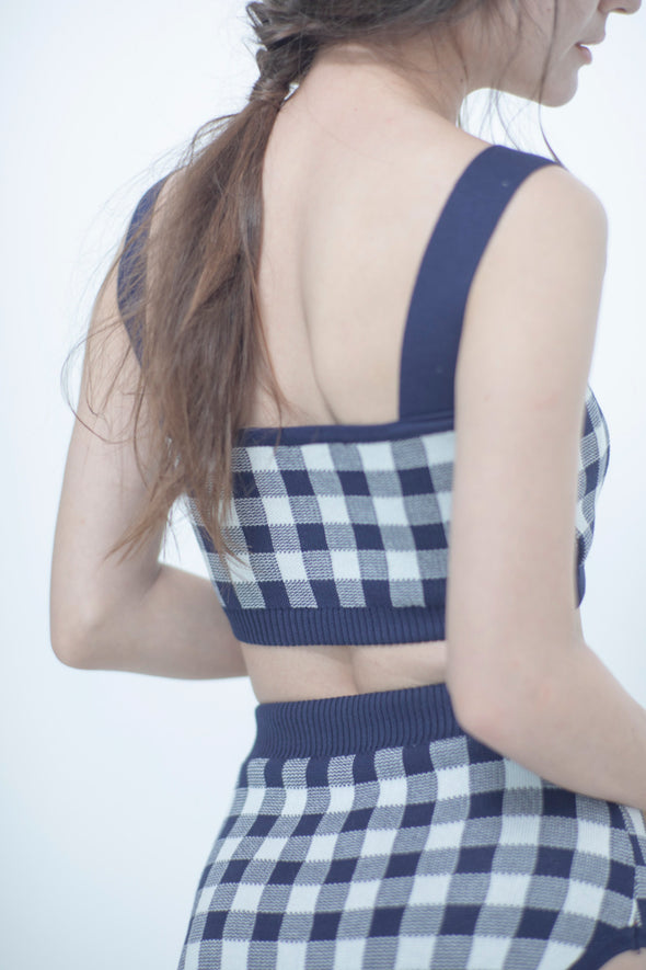 Gingham check swimwear PR080013
