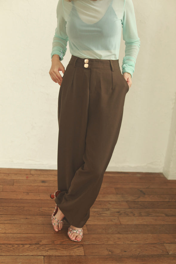 center crease high-waisted pants PR090011