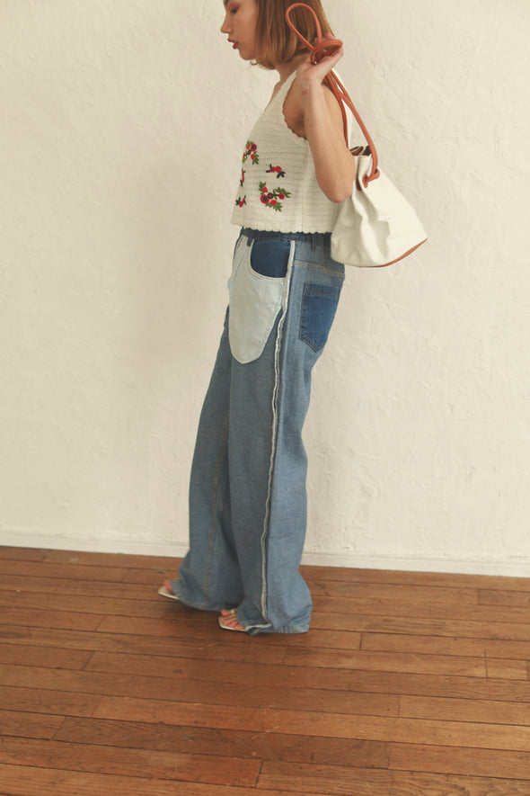 unique denim pants PR090013