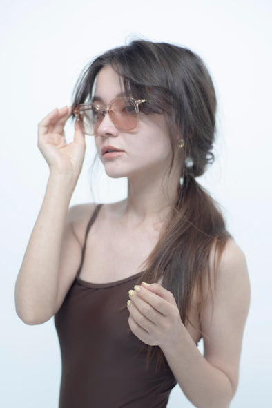 clear frame sunglasses PR120023