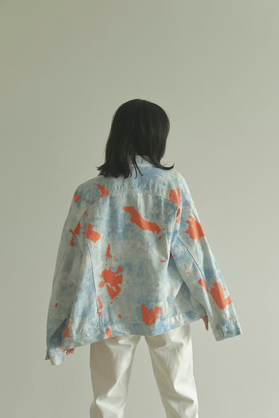 tiedye denim jacket PR120074