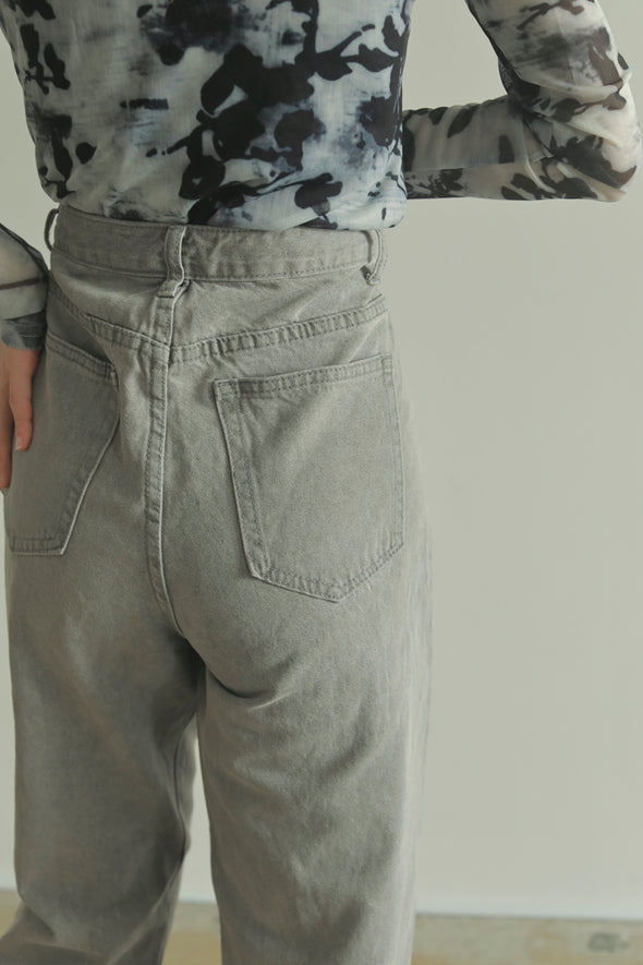 straight gray denim PR070072