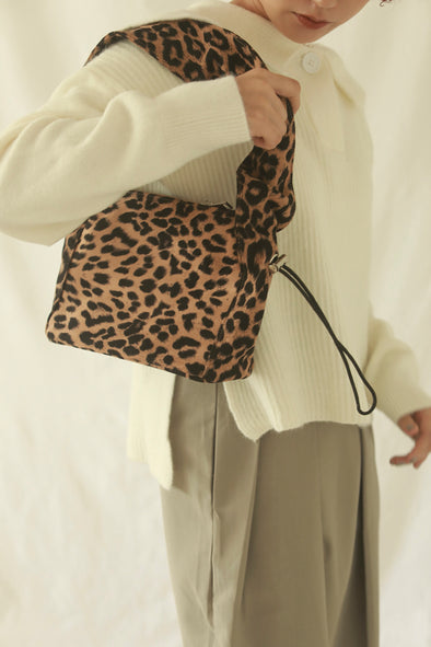 leopard shirring bag PR200048