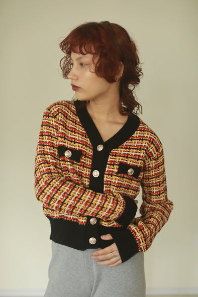check knit cardigan PR320033
