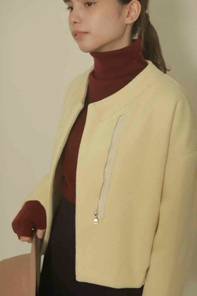 slit jacket PR130125/ONESIZE/white