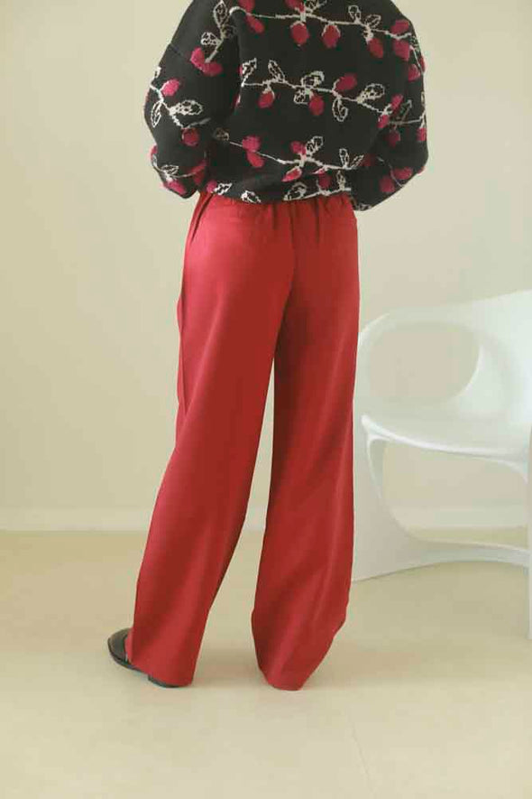 Color straight pants PR350011