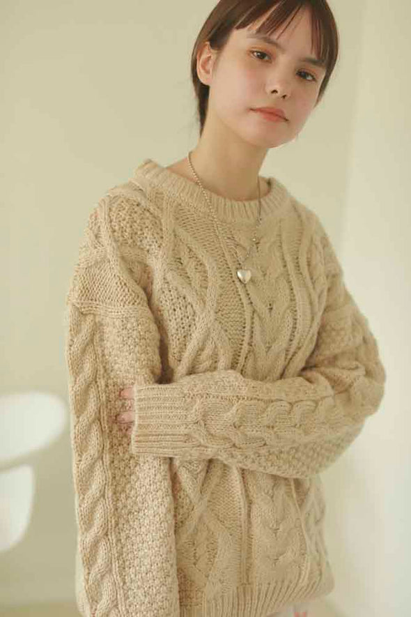 twist mohair sweater PR350016