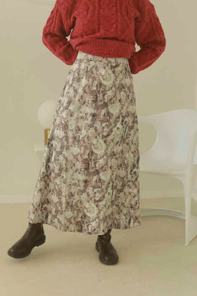sick retro high-waist long skirt PR350006