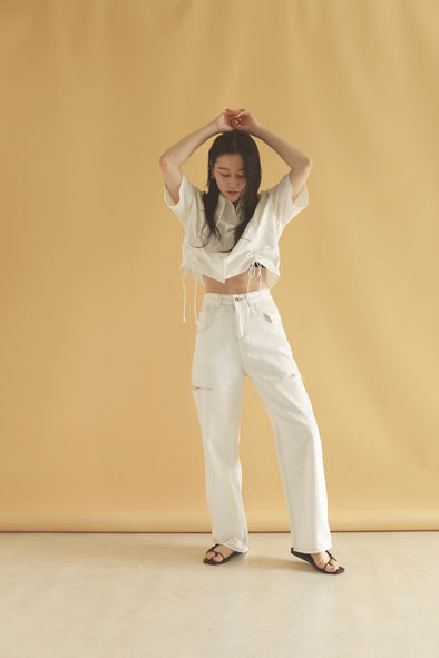 White denim pants PR120055