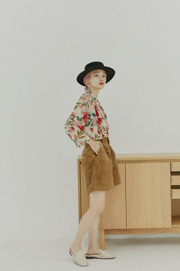 flower pattern see-through shirts PR00110