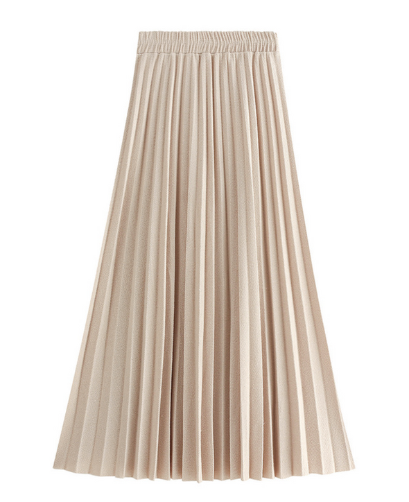 Wool pleated long skirt PRMT0004