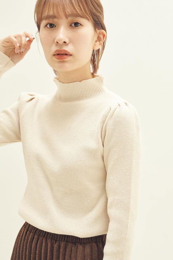 Puff sleeve knit tops PRMT0001