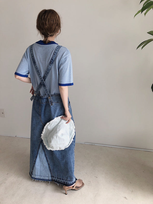 denim overalls skirt PR130042