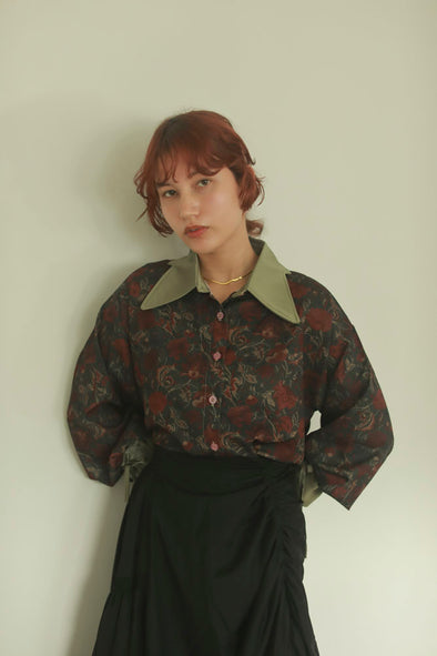 gather sleeve shirt PR130127