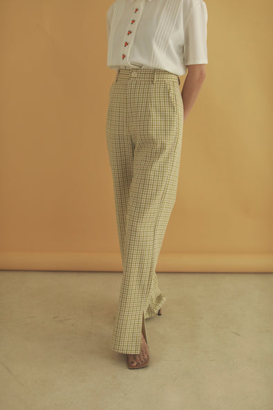 check straight pants PR070048