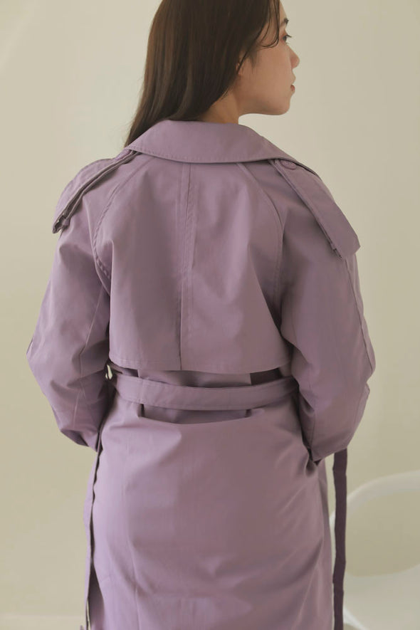 purple trench coat PR310056