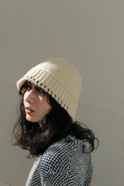 Stitch knit hat PR120136