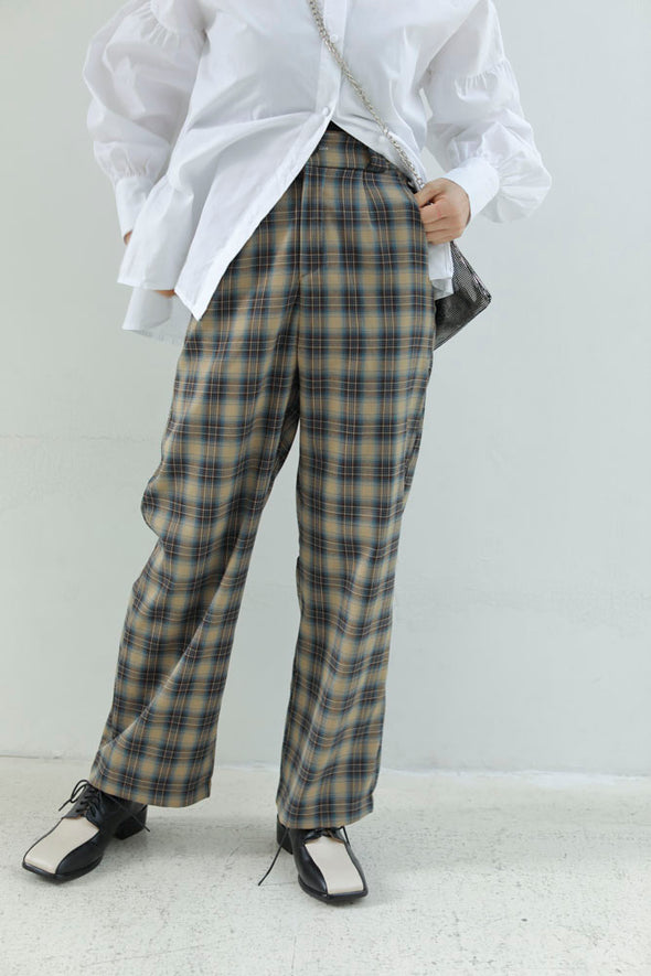 Chic plaid pants PR120141