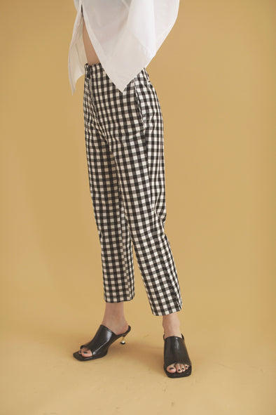 gingham check pants PR010072